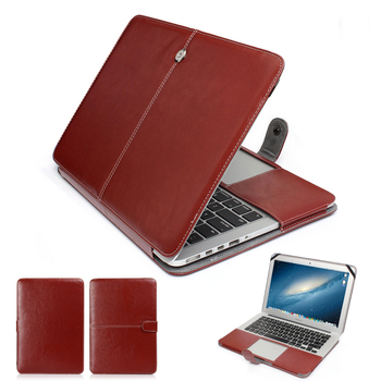 Moda PU deri Laptop Apple macbook pro air Retina 11 12 13 15 inç Ultrabook notebook kılıfı çanta için Mac kitap 13.3